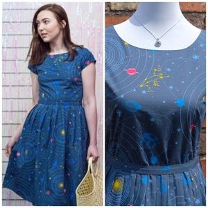 Run and Fly Space Constellation Dress Vintage